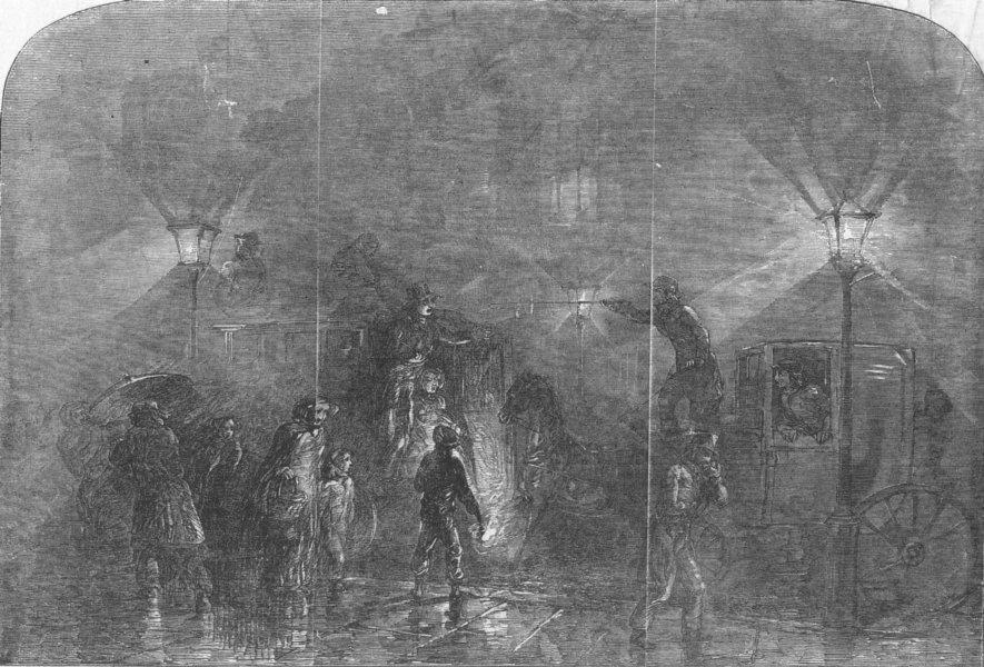 Associate Product LONDON. A London Fog, antique print, 1849