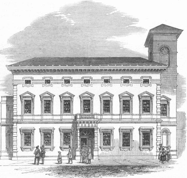 Associate Product SCOTLAND. Edinburgh Corn Exchange, antique print, 1849