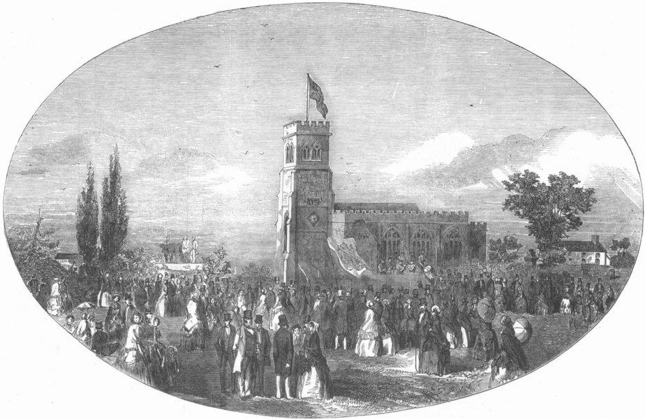Associate Product WALES. Lord Kenyon birthday, Hanmer, Flintshire, antique print, 1853