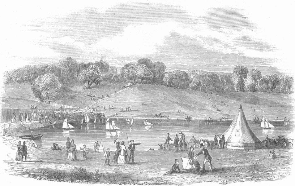 Associate Product LONDON. The Highgate Model Yacht Club, antique print, 1854
