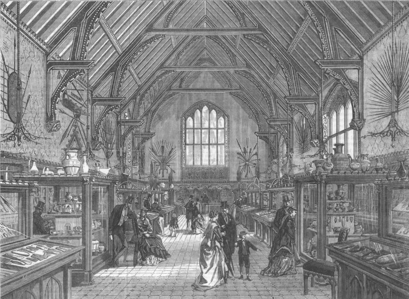 Associate Product WILTS. The Blackmore Museum, Salisbury, antique print, 1867