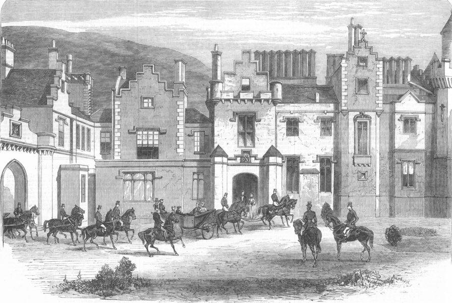 Associate Product SCOTLAND. Queen, Borders. Abbotsford, antique print, 1867