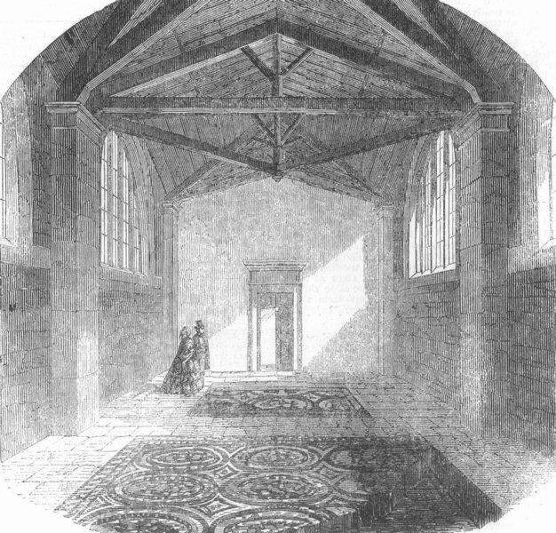 Associate Product GLOS. Roman Tesselated Pavement, Cirencester, antique print, 1856