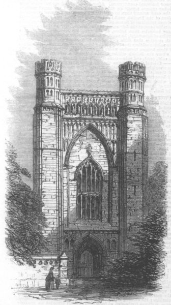 Associate Product CAMBS. Thorney Abbey, Cambridgeshire, antique print, 1861