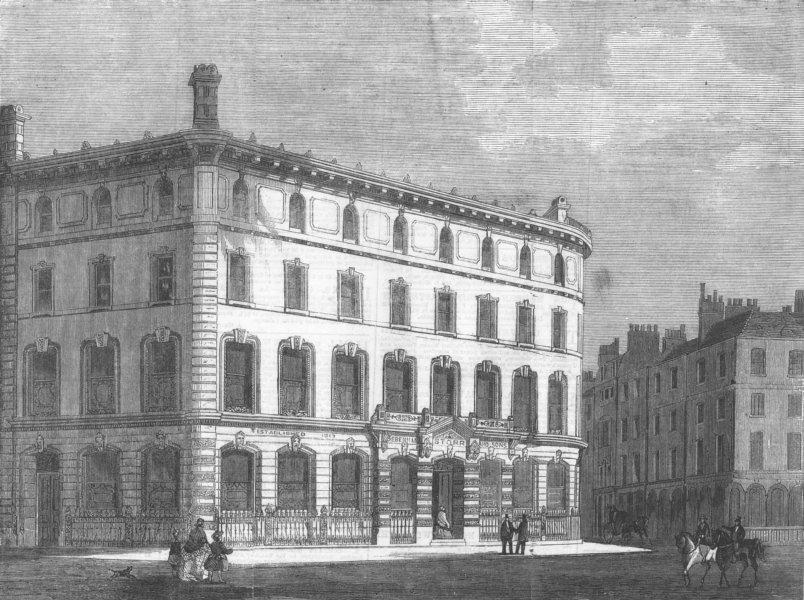 Associate Product LONDON. Covent-Garden-Debenham, Storr auction rooms, antique print, 1860