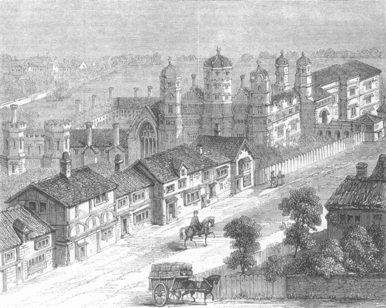 Associate Product LONDON. London Antiquities-Palace of Southwark, antique print, 1860