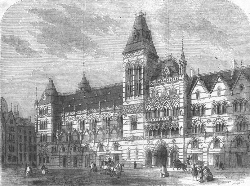 Associate Product LONDON. Prizewinning design for Metropolitan Hotel, antique print, 1860
