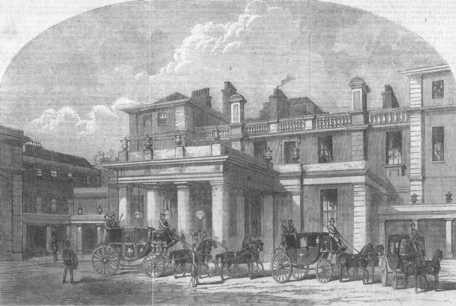 Associate Product LONDON. Civic deputation, Marlborough House, antique print, 1863