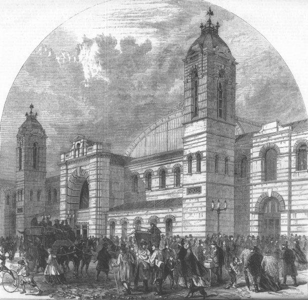 Associate Product LONDON. Smithfield Cattle Show, Islington, antique print, 1862
