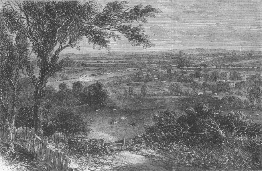 Associate Product LONDON. Planned North London Park, antique print, 1862