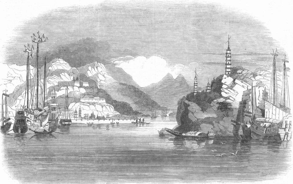 Associate Product LONDON. The Oval. Chusan, Surrey zoo, antique print, 1853