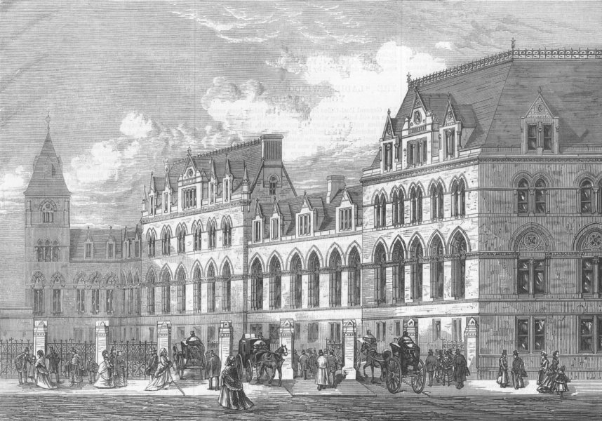 Associate Product LONDON. Gt Eastern Station, Liverpool St, antique print, 1875