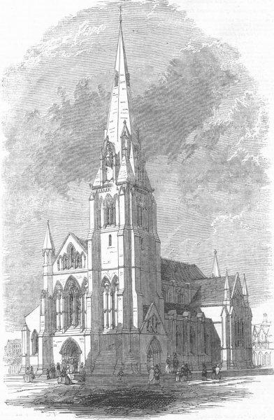 Associate Product LANCS. Independent Chapel, Cavendish St, Manchester, antique print, 1847