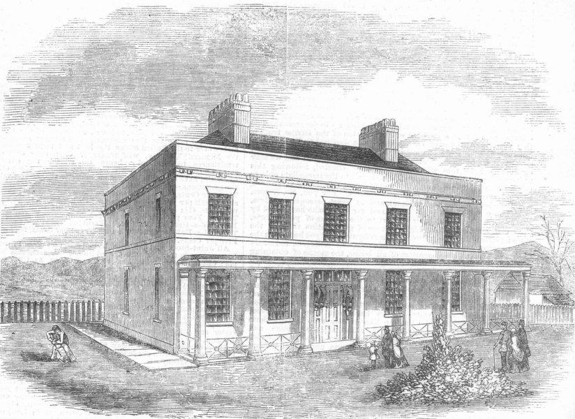 Associate Product KENT. Shell shocked troops Asylum, Ft Pitt, Chatham, antique print, 1857