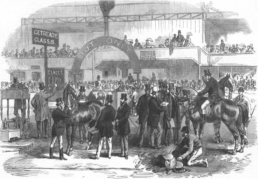 Associate Product LONDON. Islington Horse show prizes, antique print, 1867