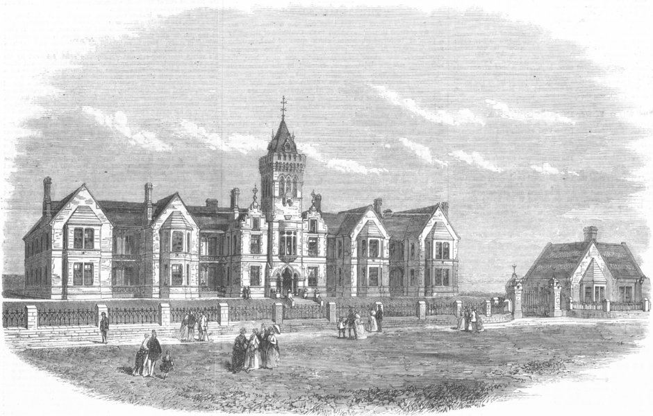 Associate Product NORTHUMBS. Prudhoe recovering home, Whitley, antique print, 1869