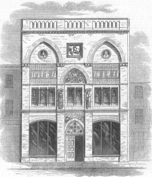 Associate Product LONDON. Architectural Museum, Bowling St, Westminster, antique print, 1869