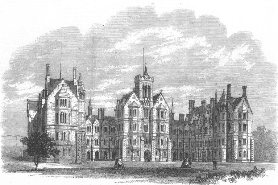 Associate Product LANCASHIRE. Cotton Famine. Ripley's Orphanage, Lancaster, antique print, 1864