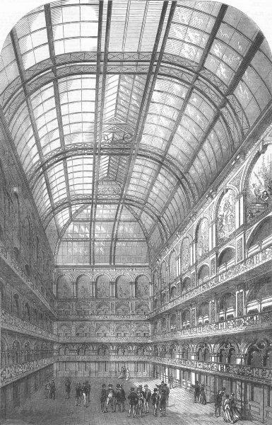 Associate Product LONDON. Hop Exchange. new Hop & Malt Exchange, antique print, 1867