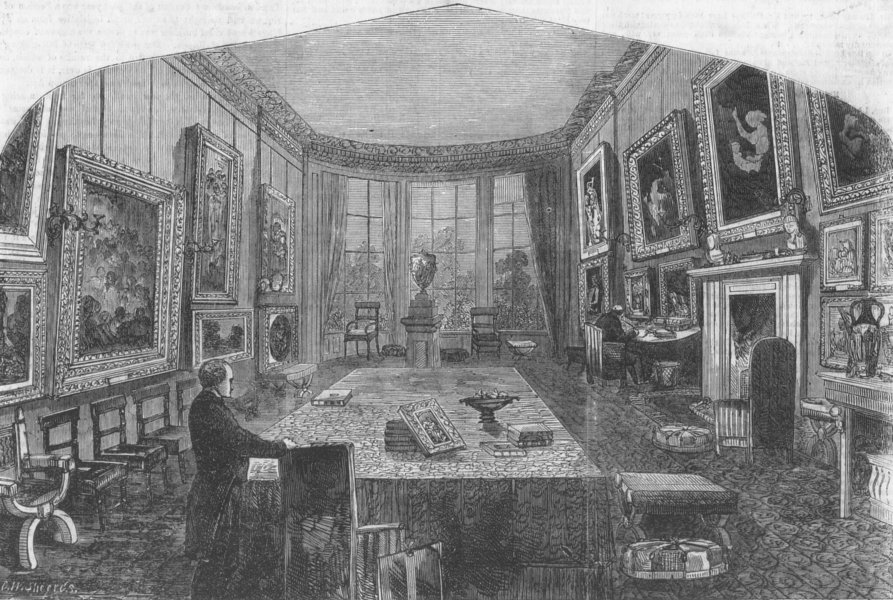 Associate Product LONDON. Breakfast-room, Rogers House St Jamess Place, antique print, 1856