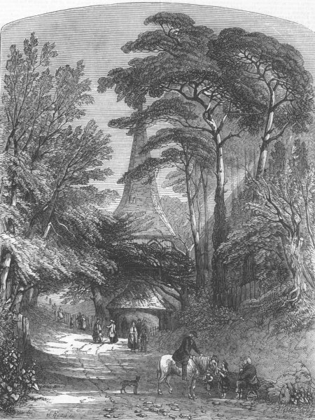 Associate Product CHURCHES. British Inst-village church, antique print, 1847