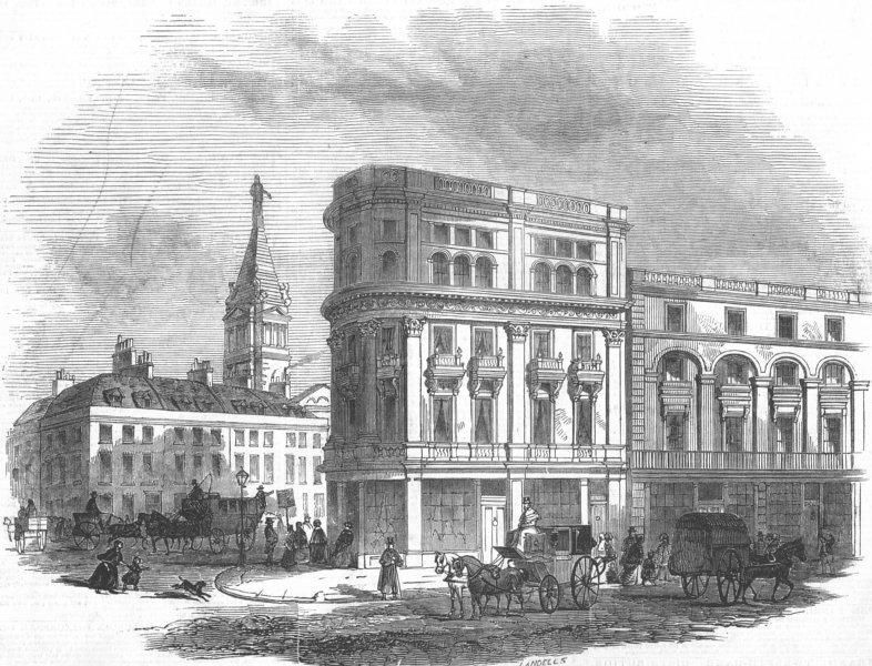 Associate Product LONDON. New Oxford-Street, antique print, 1847