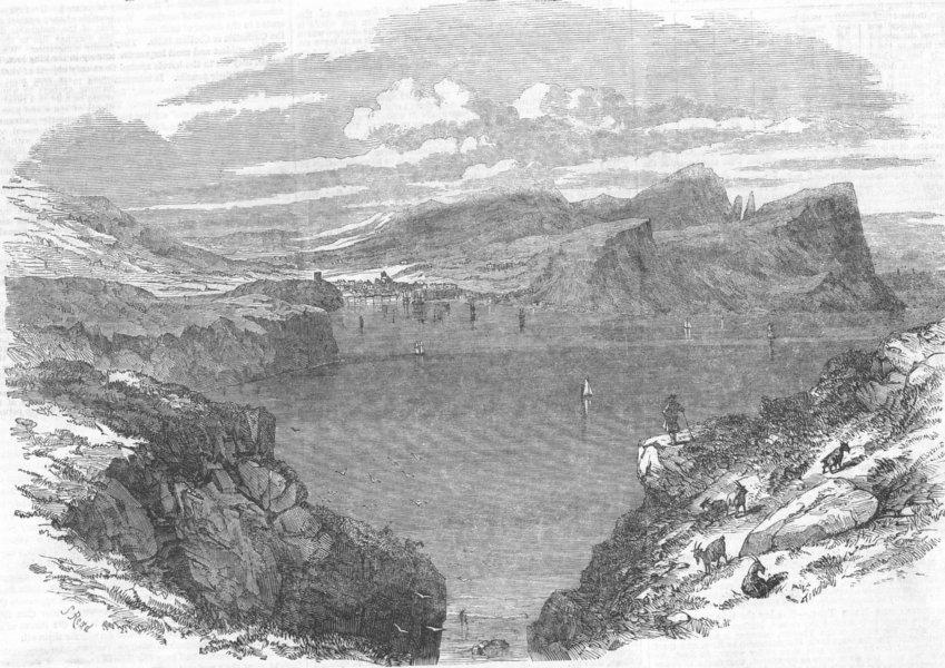 Associate Product Isle of Skye. Portree. Scotland, antique print, 1853
