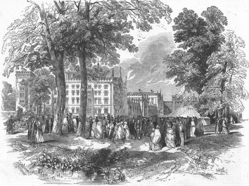 Associate Product CAMBS. Fete, St John's College, Cambridge, antique print, 1847