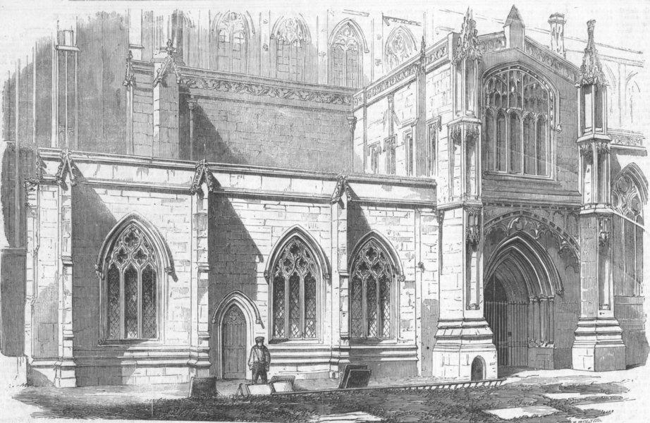 Associate Product LINCS. South-Western Chapel, Boston Church, antique print, 1857