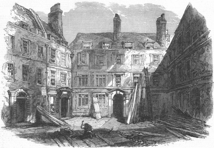 Associate Product LONDON. Demolition of Doctors Commons. Gt Quad, antique print, 1867