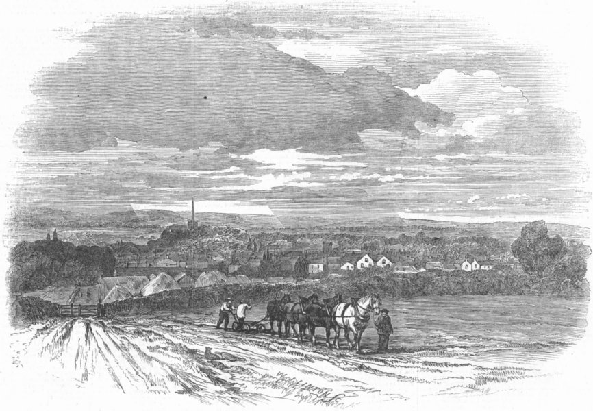 Associate Product WARCS. View of Stratford-upon-Avon, antique print, 1847