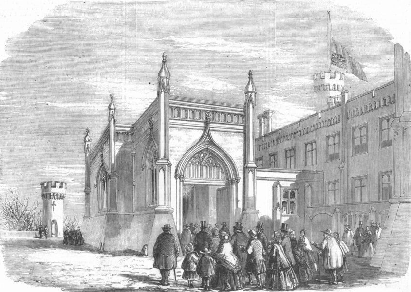 Associate Product LEICS. Duke of Rutland funeral, Belvoir Castle, antique print, 1857
