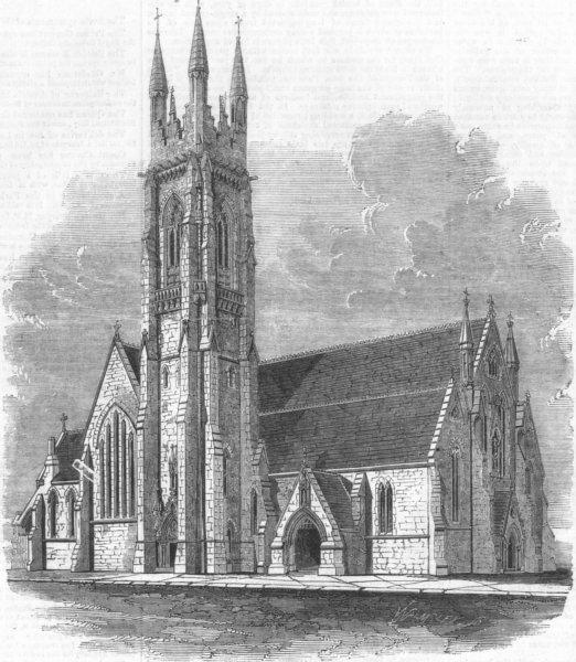 Associate Product IRELAND. Catholic Cathedral, Limerick, antique print, 1860