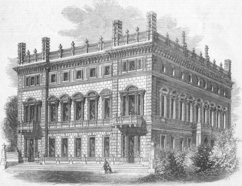 Associate Product LONDON. Bridgewater House, Green Park(Ellesmere), antique print, 1857