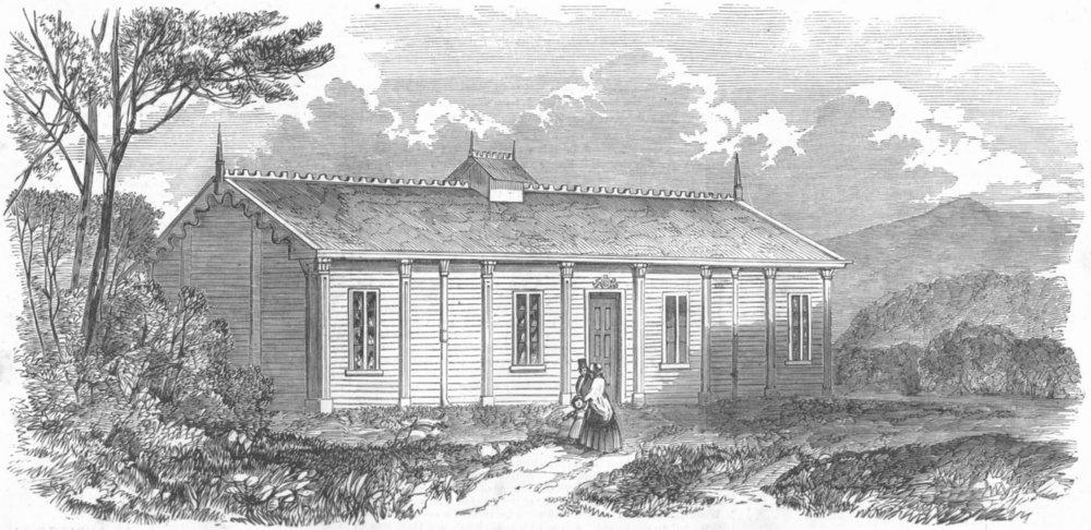 Associate Product SCOTLAND. Iron ballroom constructed for Balmoral, antique print, 1851