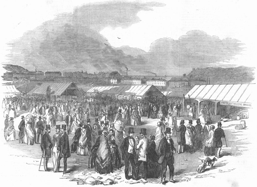 Associate Product DEVON. Agricultural Show, Pennycomequick, Plymouth, antique print, 1853