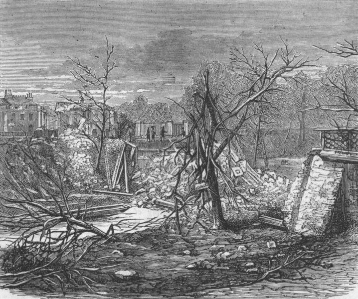Associate Product LONDON. Explosion, Regent's Canal. ruins, antique print, 1874