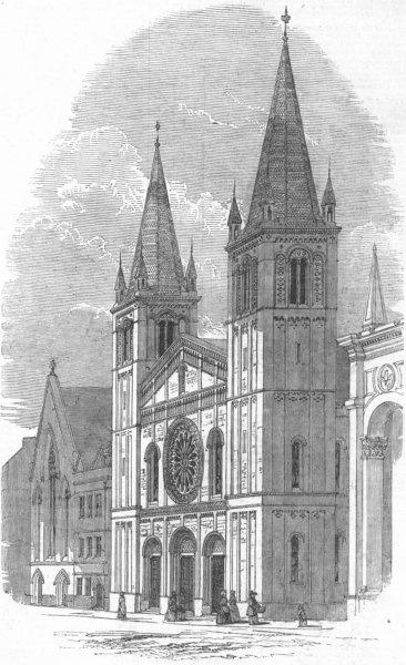 Associate Product LONDON. Bloomsbury Baptist Chapel, , antique print, 1848