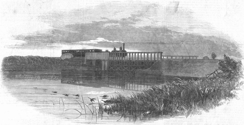 Associate Product WARCS. Bridge over reservoir, Solihull, antique print, 1853