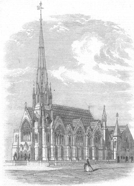 Associate Product WARCS. Church of Messiah, Broad St, Birmingham, antique print, 1862