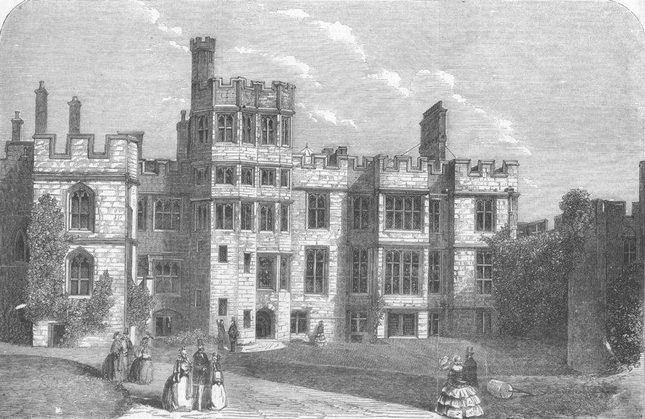 Associate Product WARCS. Armoury, Warwick Castle, antique print, 1858