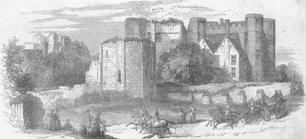 Associate Product WARCS. Kenilworth Castle. Royals, antique print, 1858