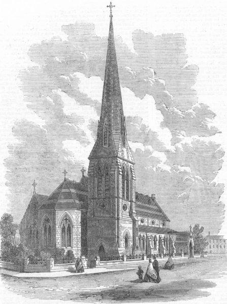 Associate Product CUMBS. St Stephen's church, Carlisle(Coutts), antique print, 1865
