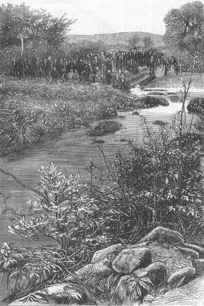 Associate Product DEVON. Ye Fyshynge Feaste at Plymouth, antique print, 1871