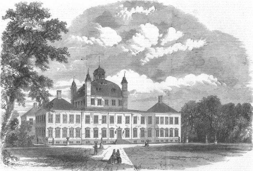 Associate Product DENMARK. Royal Visit. Fredensborg Castle, antique print, 1864