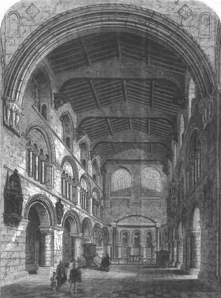 Associate Product LONDON. St Bartholomew Gt, Smithfield, antique print, 1867