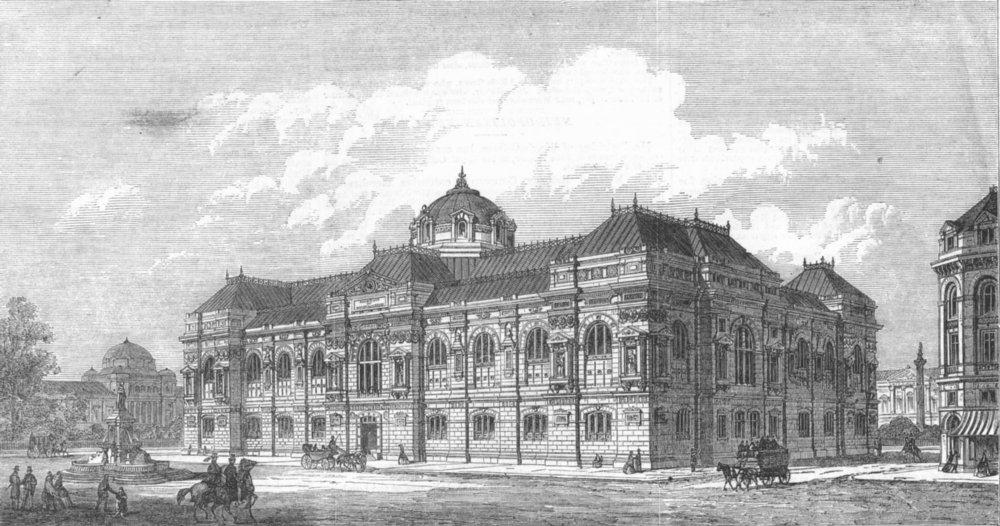 Associate Product LONDON. Prize design, Natural History Museum, antique print, 1865