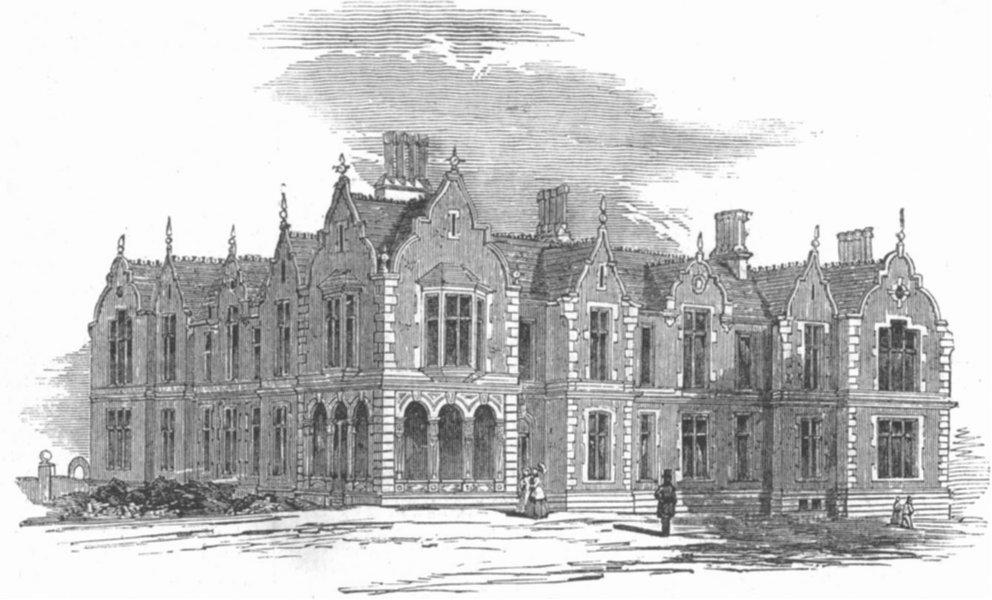 Associate Product NOTTS. Midland Inst for blind, Nottingham, antique print, 1853