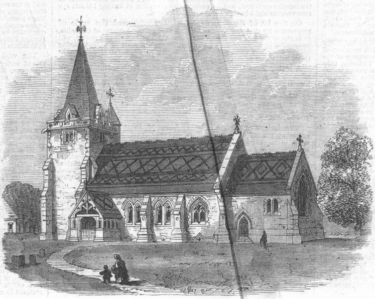 Associate Product SUSSEX. St Giless Church, Dallington, Sussex, antique print, 1864