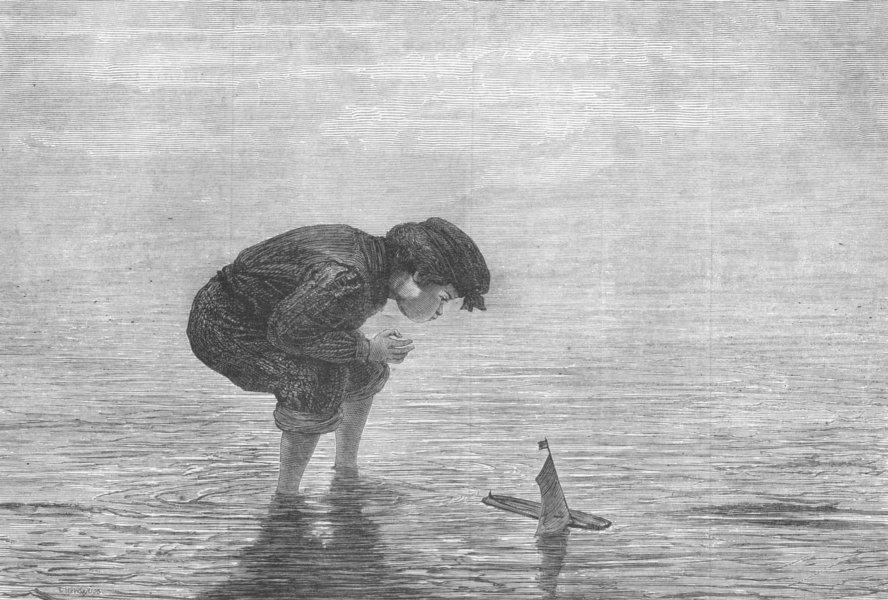 Associate Product CHILDREN. Raising the Wind, antique print, 1870